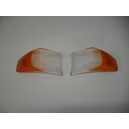 PAIR OF FRONT LIGHT LENS ORANGE / WHITE - MASERATI QUATTROPORTE / SEBRING