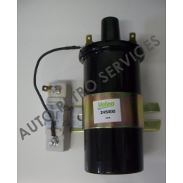 IGNTION COIL 12 VOLTS HIGH EFFICIENCY WITH RESISTANCE ALPINE - PEUGEOT - RENAULT - SIMCA - ALFA ROMEO - FIAT - LANCIA - MASERATI