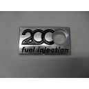 EMBLEME 2000 FUEL INJECTION - FIAT 124 SPIDER 2000 / DS / VOLUMEX