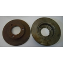 PAIR OF FRONT BRAKE DISK MONTAGE GIRLING - PEUGEOT 204