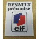 AUTOCOLLANT RENAULT - RENAULT PRECONISE ELF