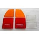 SET REAR LAMP LENSES - FIAT 124 COUPE CC